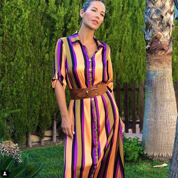 20180823 Tamara Gorro_Instagram_Vestido rayas Sahoco